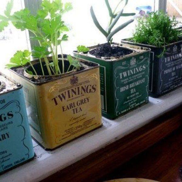 plans maison en photos 2018 astucieuse id e d co cuisine recyclage bo tes th pour herbes. Black Bedroom Furniture Sets. Home Design Ideas