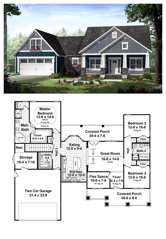 Plans maison en photos 2018 country house plan 55603 for True homes ranch floor plans