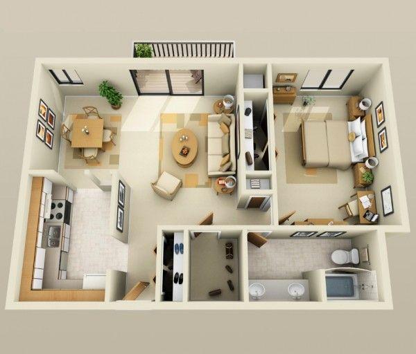 plans maison en photos 2018 plan 3d appartement 1 chambre 25 leading. Black Bedroom Furniture Sets. Home Design Ideas