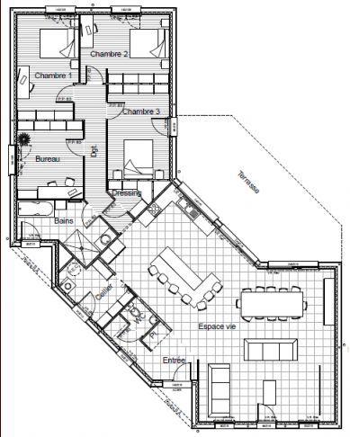 Plans Maison En Photos 2018 - Plan De Maison Plein Pied En V - ListSpirit.com - Leading ...