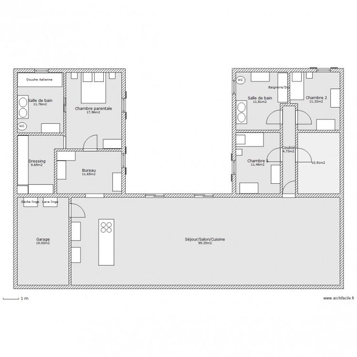 Plans maison en photos 2018 plan maison en u www for Plan maison facile