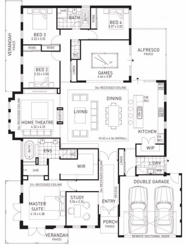 plans maison en photos 2018 plan maison familiale norme avec salon au centre. Black Bedroom Furniture Sets. Home Design Ideas