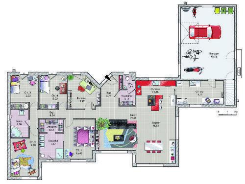 plans maison en photos 2018 plan maison l 39 agr ment des beaux espaces. Black Bedroom Furniture Sets. Home Design Ideas