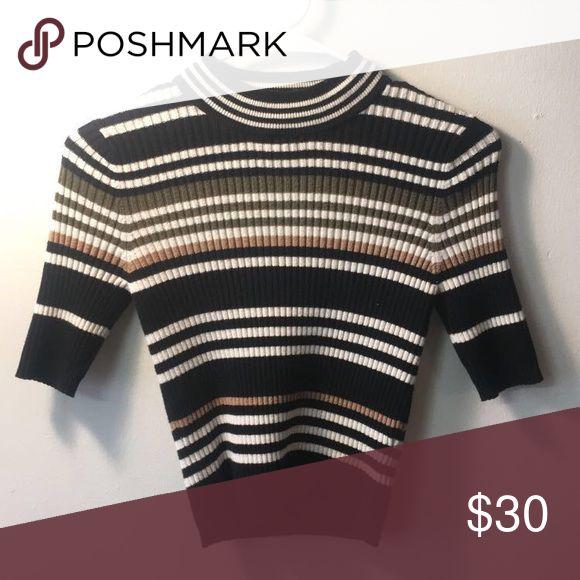 Tendance Salopette 2017 Mock Neck Sweater Mock Neck Short Sleeve