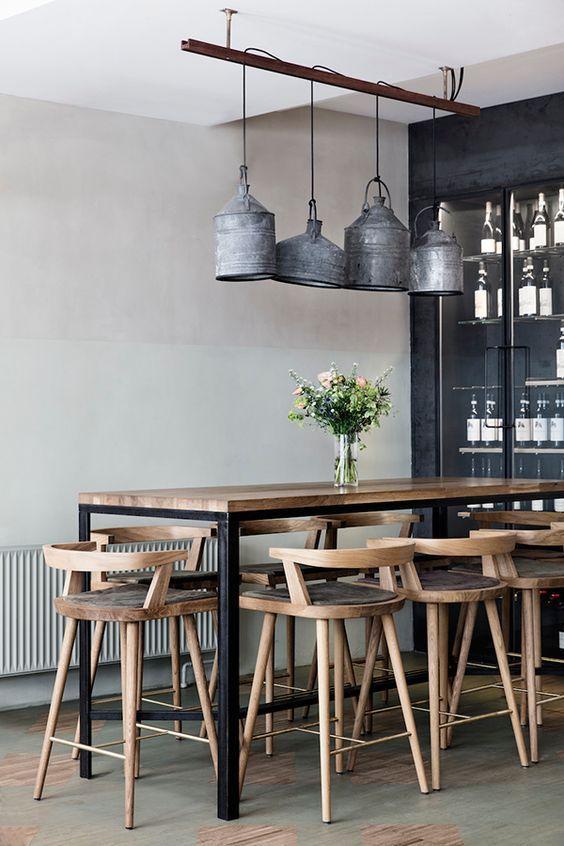 Deco Salon Table Style Industriel En Bois Et Metal