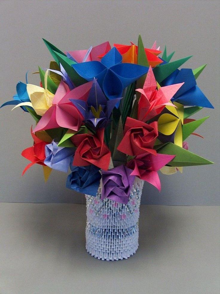 bouquet d origami fleur leading inspiration culture lifestyle magazine. Black Bedroom Furniture Sets. Home Design Ideas