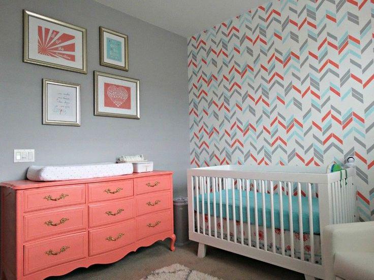 Idée Décoration Maison En Photos 2018 - chambre bébé décorée gris ...