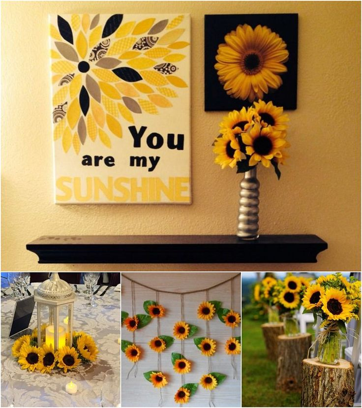 id e d coration maison en photos 2018 d co t avec fleur de tournesol id es decoration. Black Bedroom Furniture Sets. Home Design Ideas