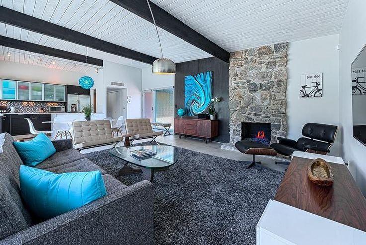 Idée Décoration Maison En Photos 2018 - salon-blanc-noir-gris pierre ...