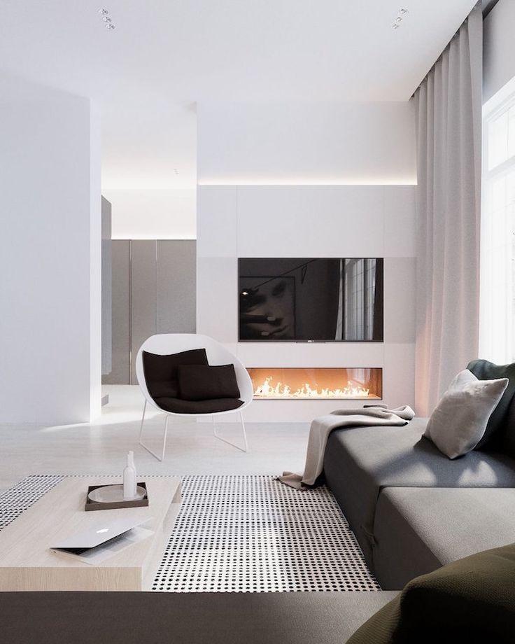 Idée Décoration Maison En Photos 2018 - salon ultra-moderne blanc ...