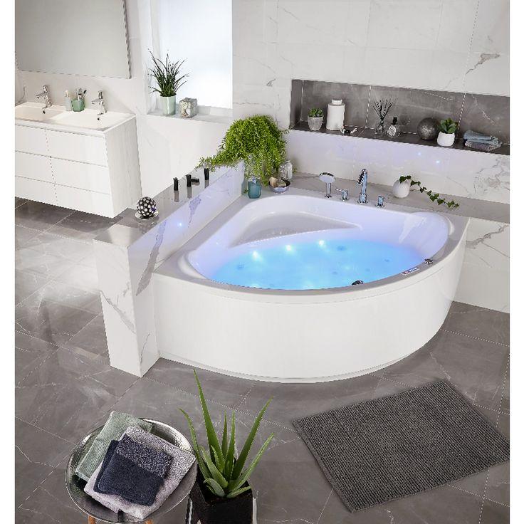Idée décoration Salle de bain - Baignoire balnéo d\'angle modèle ...