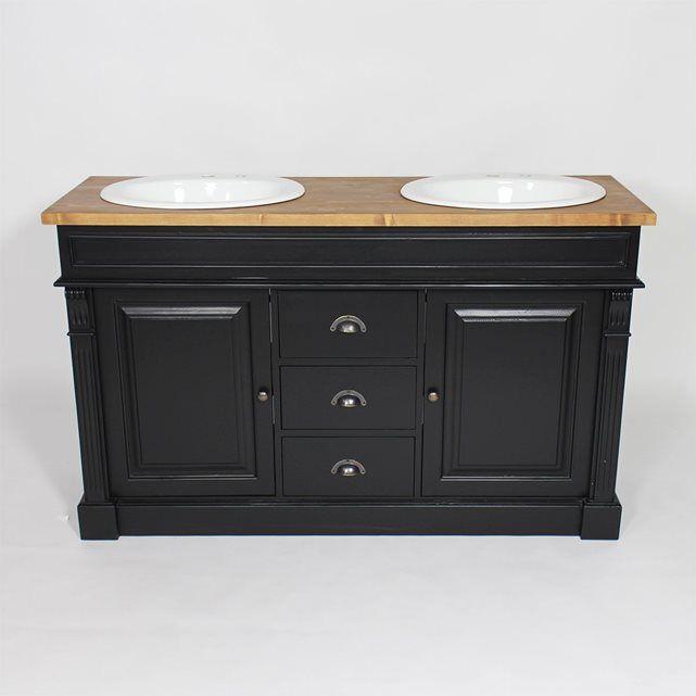 id e d coration salle de bain d couvrez le charme de ce meuble de salle de bain 2 vasques en. Black Bedroom Furniture Sets. Home Design Ideas