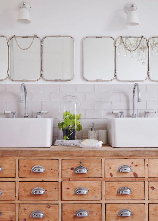 Idée décoration Salle de bain - Meuble de mercerie pour lavabo Houzz ...