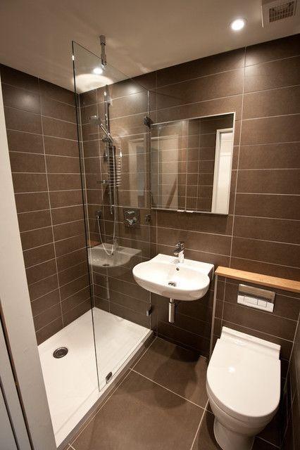Idée décoration Salle de bain - Petite salle de bain moderne www ...