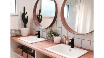 Id e d coration salle de bain carrelage m tro et - Idees deco de salle de bain au style tropical ...