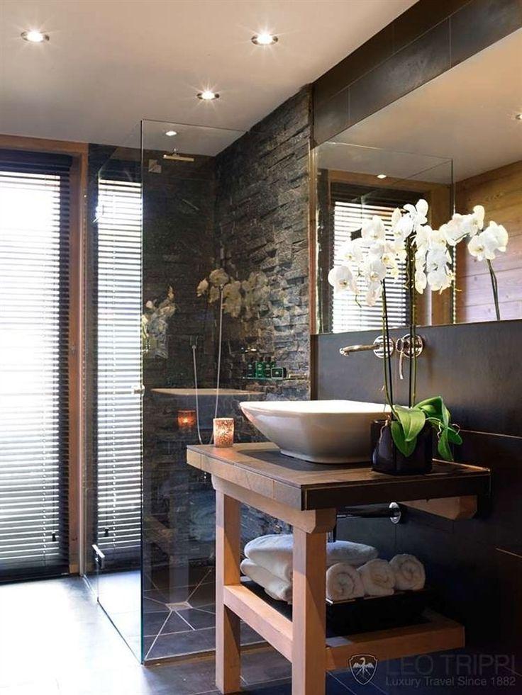 Douche Rustique idée décoration salle de bain - salle de douche dans l'esprit