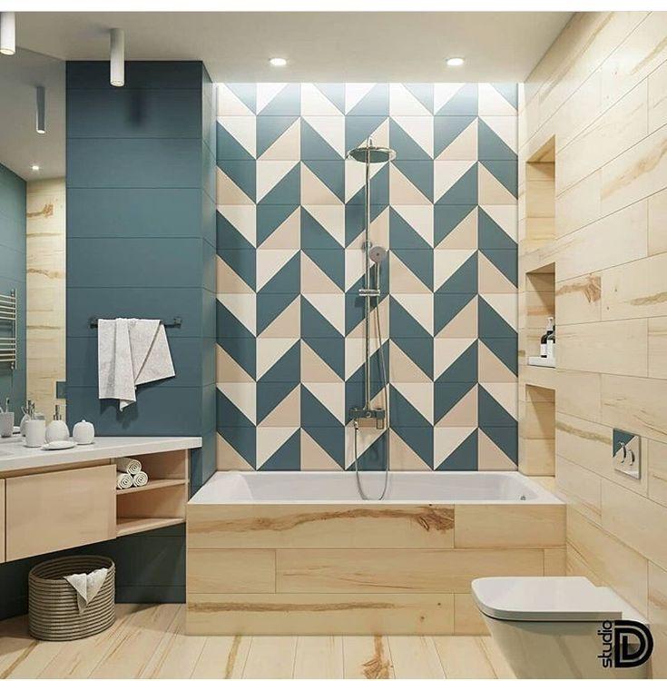 Idée décoration Salle de bain - Une #salledebain au mélange ...