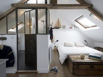 Idée décoration Salle de bain - Combles aménagés : une chambre avec ...
