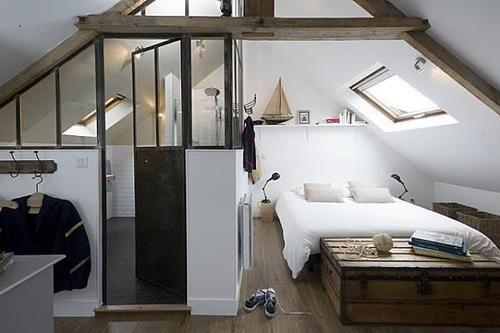 Idée décoration Salle de bain - combles aménagées (chambre et sdb ...