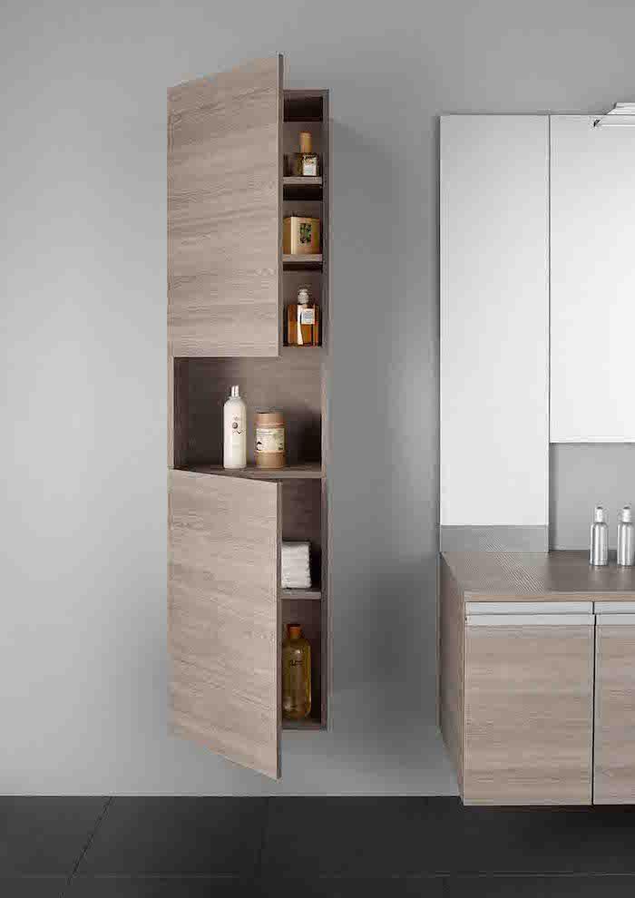 Id e d coration salle de bain etagere en bois salle de bain murale et suspendue genre armoire - Ikea armoire salle de bain ...
