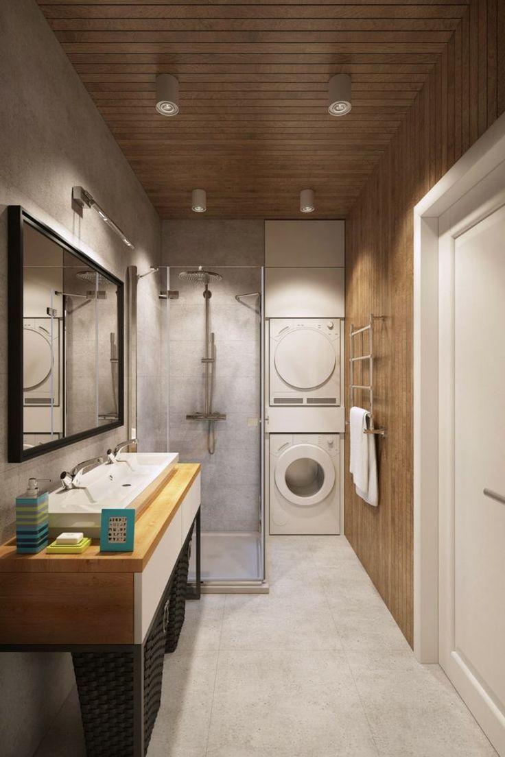 Salle De Bain Agrandir ~ id e d coration salle de bain salle de bain bois style scandinave