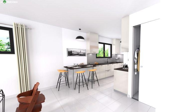 Idée relooking cuisine - Cuisine ouverte du modèle de maison ...
