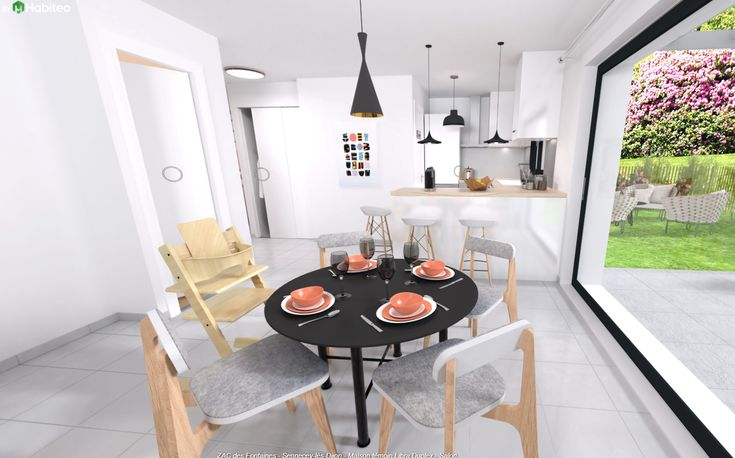 Maison moderne à Dijon (et sa région). Cuisine ouverte du modèle de ...