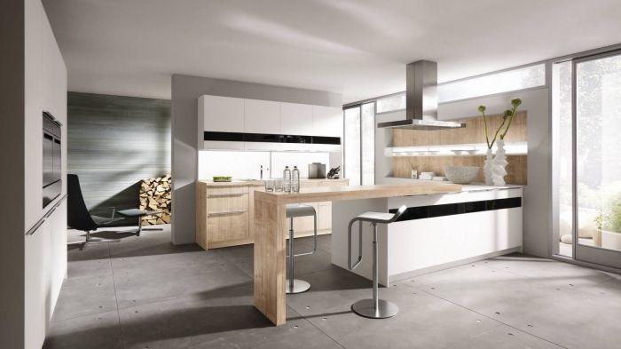 Id e relooking cuisine mod le de cuisine grise et for Modele cuisine blanche et grise