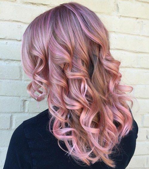 8 Pastel Lavande Cheveux Couleur Avec Rose Met En Evidence