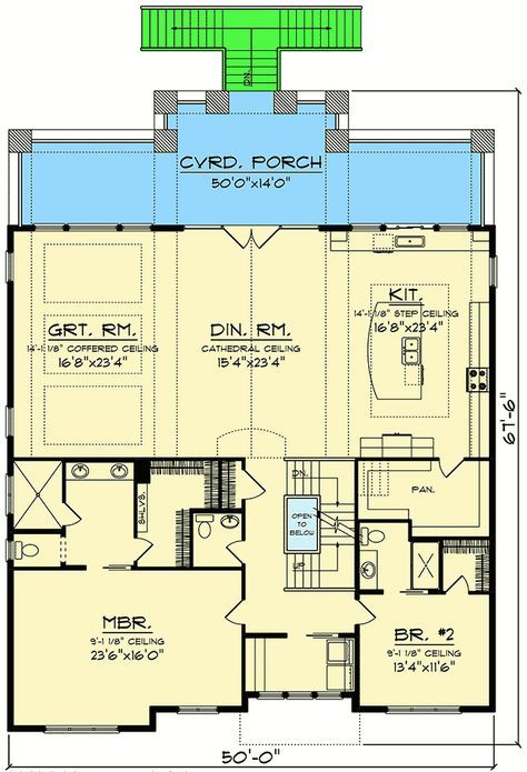 Plans maison en photos 2018 craftsman house plan for a for House plans for view lots