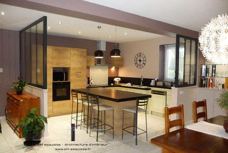 Plans maison en photos 2018 cuisine ouverte avec - Plan de maison avec cuisine ouverte ...
