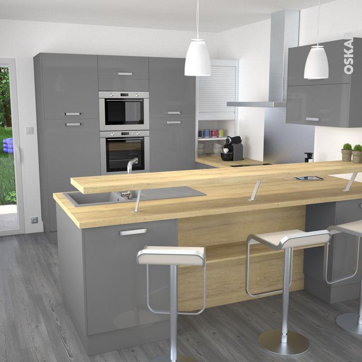 Plans maison en photos 2018 cuisine ouverte sur salle - Plan de maison avec cuisine ouverte ...