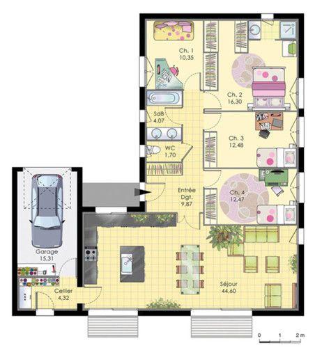 Idée De Maison A Construire plans maison en photos 2018 - maison de plainpied - détail du plan