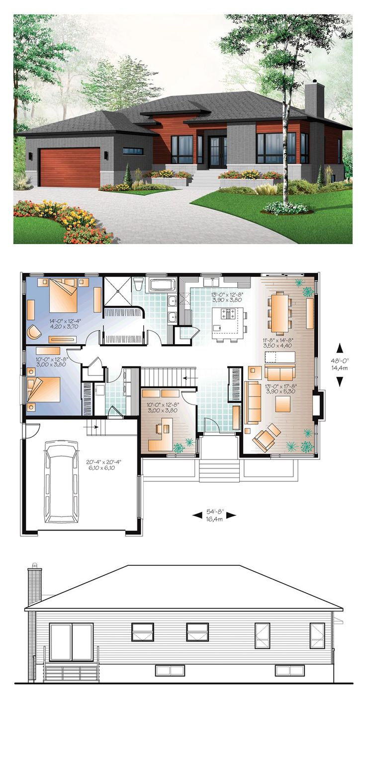 modern one bedroom house plans plans maison en photos 2018 modern house plan 76355 19275