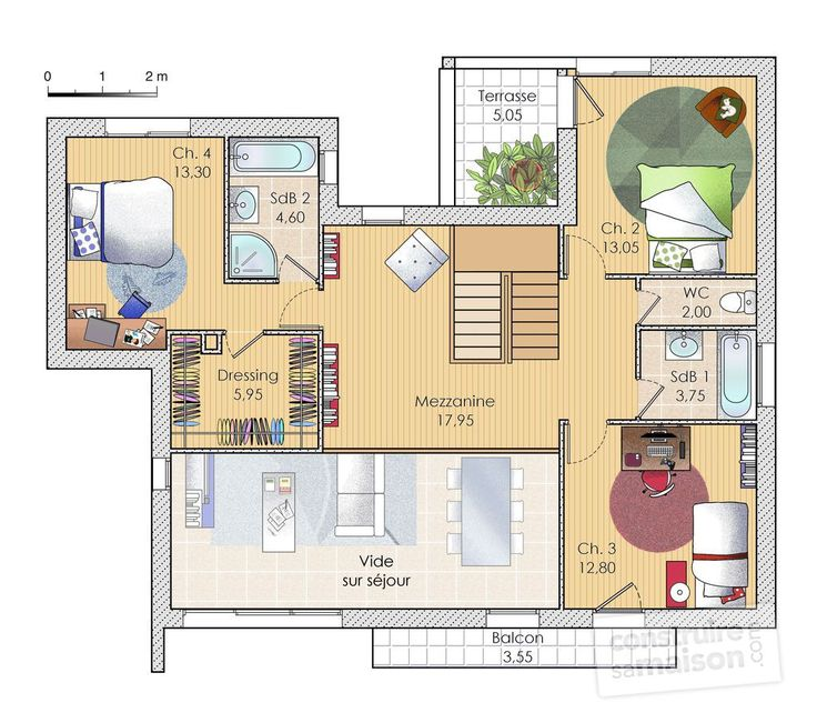 Plans Maison En Photos   Plan Habill Etage  Maison  Une
