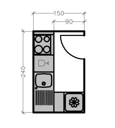 plans maison en photos 2018 sur ce plan d 39 une cuisine en. Black Bedroom Furniture Sets. Home Design Ideas