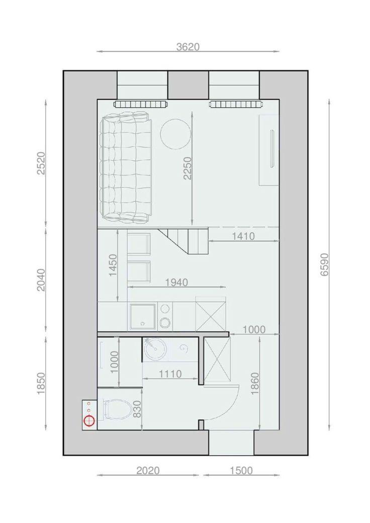 plans maison en photos 2018 plan de maison am nagement de studio de 20m2. Black Bedroom Furniture Sets. Home Design Ideas