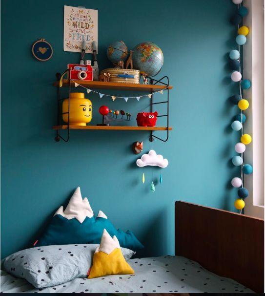 Kinderkamer Essence Geel Blauw Idee Couleur Tete De Lit Chambre