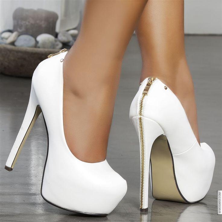 tendance chaussures 2017 escarpins femme blanc taille 37 achat en ligne escarpins femme sur. Black Bedroom Furniture Sets. Home Design Ideas