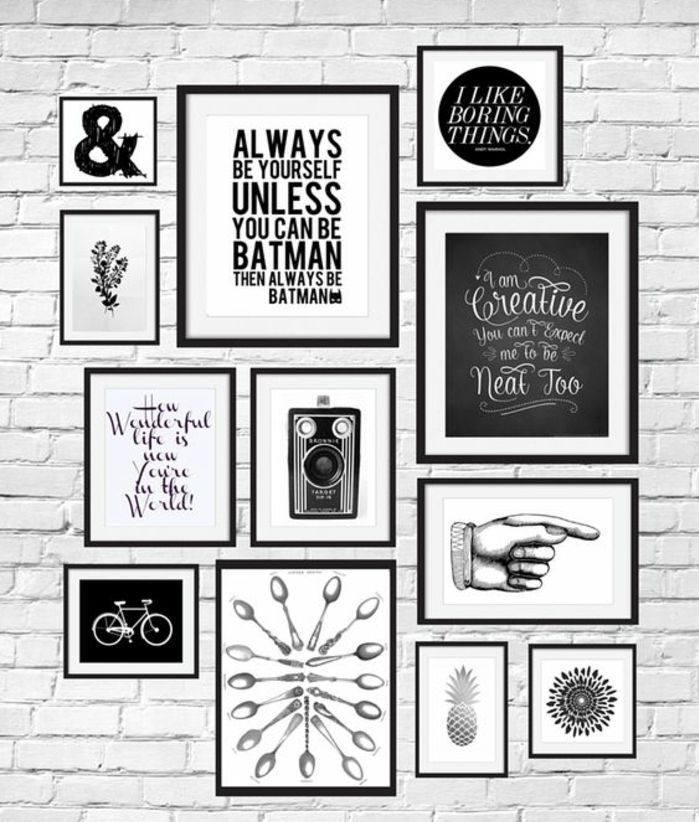 citation deco mur cadre rectangulaire photo blanc et noir dessin v lo citation inspi. Black Bedroom Furniture Sets. Home Design Ideas