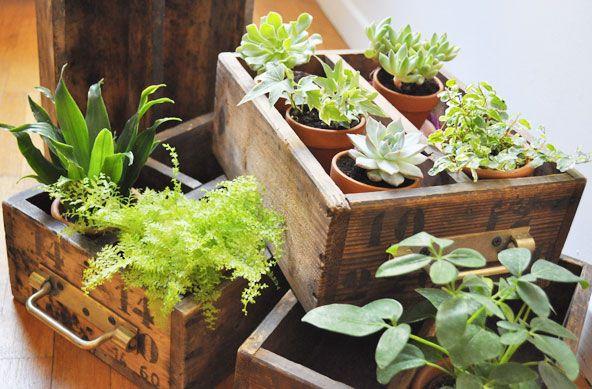 id e d coration maison en photos 2018 diy tiroirs vintage en jardini re. Black Bedroom Furniture Sets. Home Design Ideas