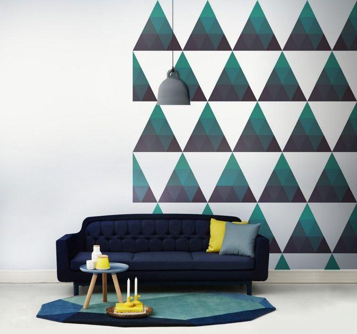 Idée Décoration Maison En Photos 2018 - Peinture décorative dessin géométrique et plus - 65 ...