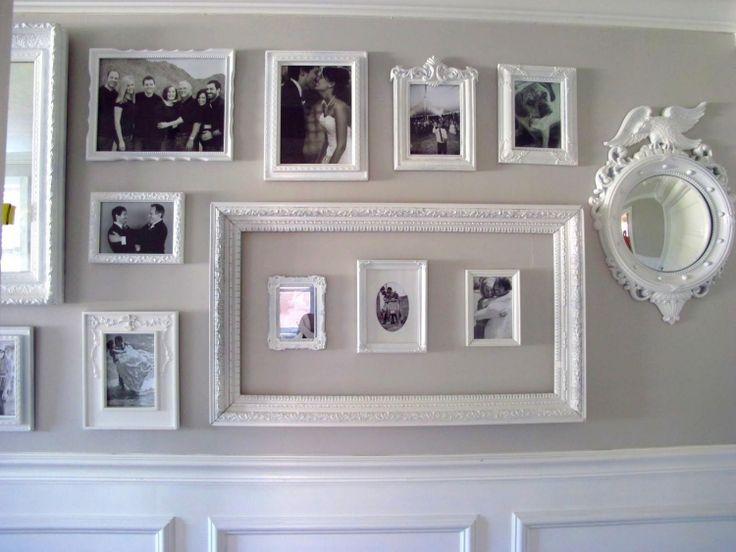 Cadres Photos Originaux Peints Blanc  Décoration Murale Chic