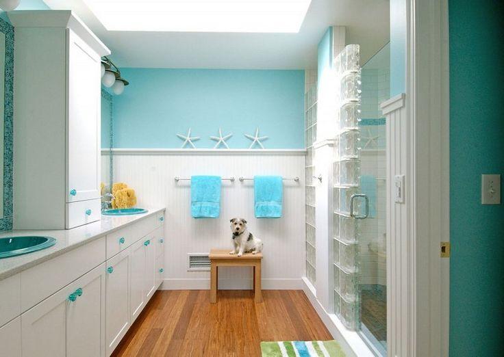 déco bord de mer pour la salle de bains- optez pour le blanc et le ...