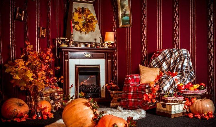 d coration pas cher pour l 39 automne plaids multicolores citrouilles orange. Black Bedroom Furniture Sets. Home Design Ideas