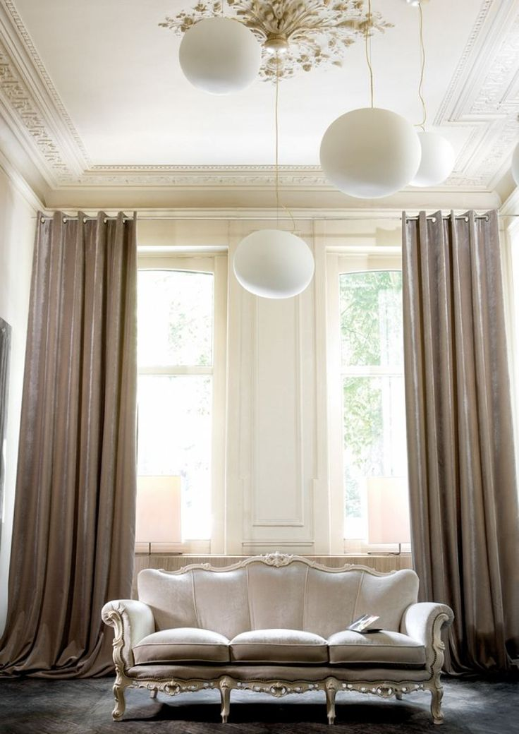 id e d coration maison en photos 2018 rideaux design en soie beige fonc canap droit de. Black Bedroom Furniture Sets. Home Design Ideas
