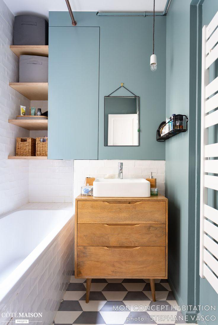 Idée décoration Salle de bain - Cette petite salle de bains ...