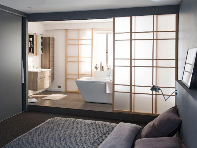 Idée décoration Salle de bain - chambre parentale. Portes ...