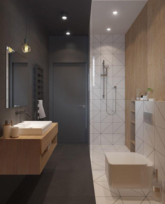 Idée décoration Salle de bain - exemple salle de bain grise ...