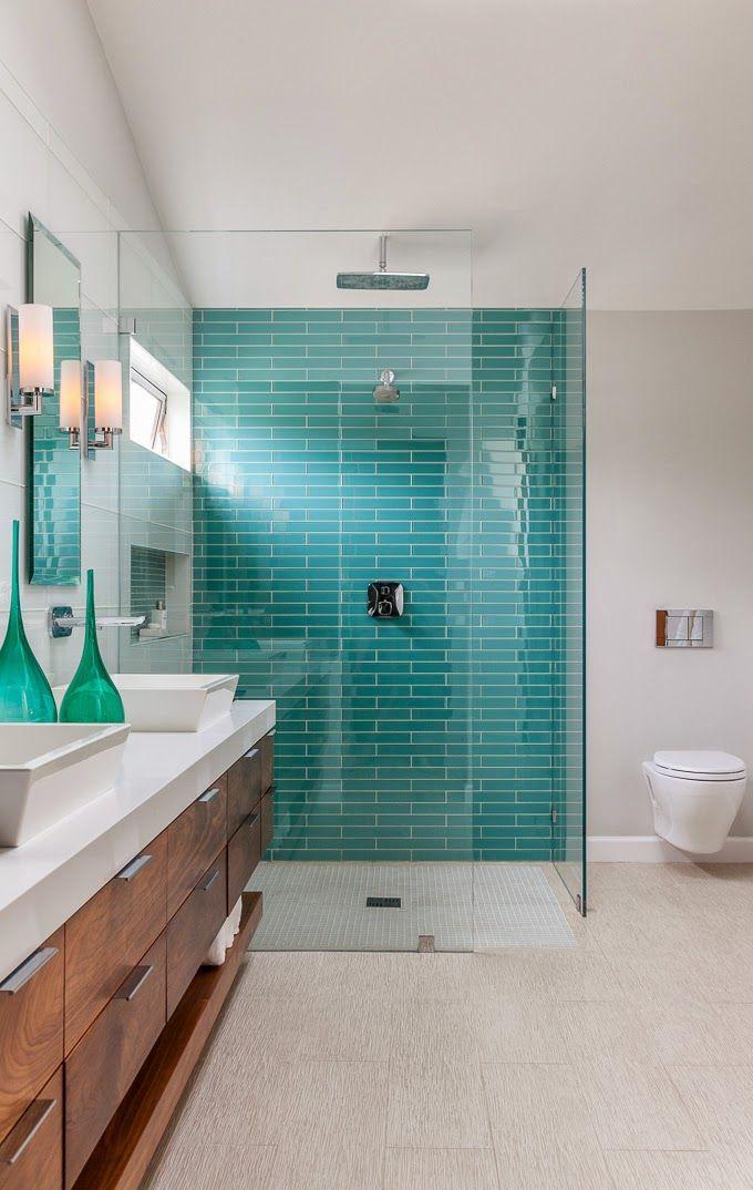id e d coration salle de bain turquoise shower christine sheldon design. Black Bedroom Furniture Sets. Home Design Ideas